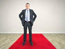 Czerwonego chodnika biznesowy mężczyzna Zdjęcie Royalty Free