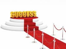 Czerwonego chodnika sukces Zdjęcie Stock