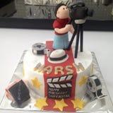 Czerwonego chodnika tort zdjęcia royalty free