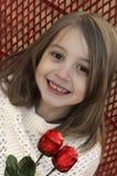 Czerwonego cukierku walentynki różana dziewczyna Fotografia Stock