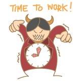 Czerwonego diabła zegaru szef Zdjęcie Stock