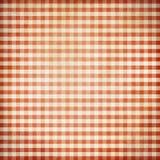 Czerwonego grunge tablecloth pykniczny tło Obraz Royalty Free
