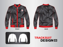 Czerwonego i czarnego tracksuit projekta kurtki wektorowy ilustracyjny projekt Fotografia Stock