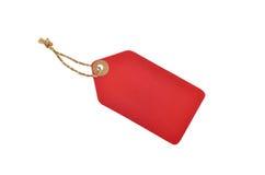 Czerwonego koloru etykietka Zdjęcie Royalty Free