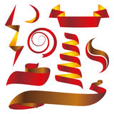 Czerwonego koloru faborki Obrazy Royalty Free