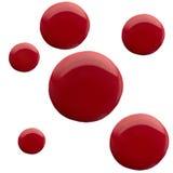 Czerwonego koloru kształta gwoździa abstrakcjonistyczny lakier Obrazy Stock