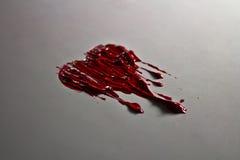 Czerwonego koloru malujący roztapiający serce Obraz Stock