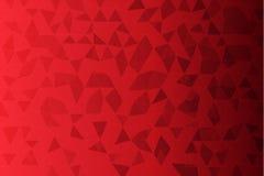 Czerwonego koloru niski poli- tło Zdjęcia Royalty Free