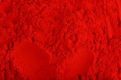 Czerwonego koloru proszek Obrazy Stock