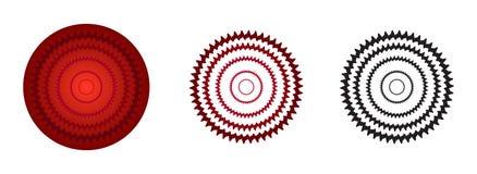 czerwonego koloru różyczki gradient ilustracji