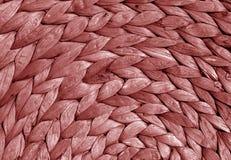 Czerwonego koloru słomy maty round tekstura Obraz Stock