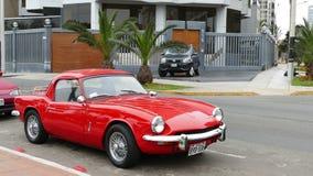 Czerwonego koloru Triumph cholernika MK3 coupe w Lima Obraz Stock