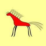 Czerwonego konia wzoru etniczny ornament Obraz Stock