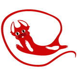 Czerwonego kota abstrakcjonistyczny długi ogon Fotografia Stock