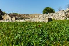 Czerwonego maczka krajobrazu antyczny miasto Zdjęcie Royalty Free