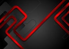 Czerwonego metalu glansowani lampasy na czarnym tle Zdjęcie Royalty Free