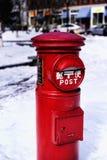 Czerwonego metalu Japońska poczta Portland Maine obraz royalty free