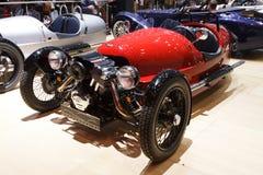 Czerwonego Morgan 3 kołodzieja Lemański Motorowy przedstawienie 2015 Fotografia Stock