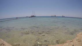 Czerwonego morza linii brzegowej 4K czasu upływ w Egipt zdjęcie wideo