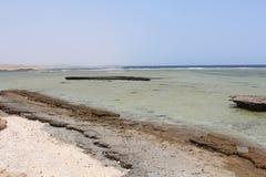 Czerwonego morza plaży Czerwony morze Egipt Zdjęcia Royalty Free