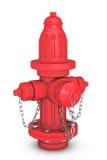 Czerwonego ogienia Hydranton 3d rendering Fotografia Stock
