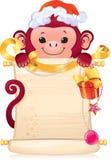 Czerwonego ogienia małpa jest symbolem nowi 2016 rok royalty ilustracja