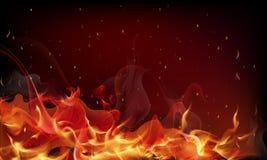 Czerwonego ogienia tło ilustracja wektor