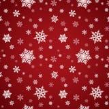 Czerwonego płatka śniegu Bezszwowy wzór Obrazy Royalty Free