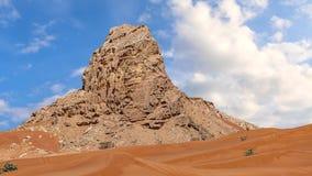 Czerwonego piaska Arabska pustynia blisko Dubaj Obrazy Stock