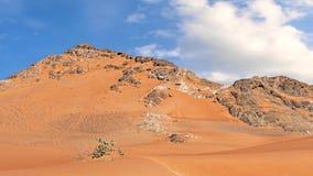 Czerwonego piaska Arabska pustynia blisko Dubaj Zdjęcia Stock