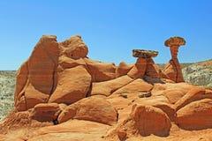 Czerwonego piaskowa formacje zdjęcia royalty free