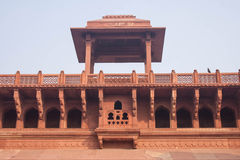 Czerwonego piaskowa pałac budynki w Agra forcie Delhi Obrazy Stock
