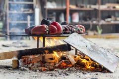 Czerwonego pieprzu piec grill Obraz Royalty Free