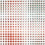 Czerwonego punktu bezszwowy wzór Fotografia Stock