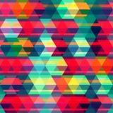 Czerwonego rhombus bezszwowy wzór Obraz Stock