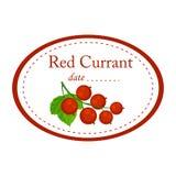 Czerwonego rodzynku etykietki wektorowy projekt odizolowywający na białym tle zdjęcia stock
