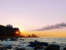 czerwonego słońca Zdjęcie Stock