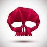 Czerwonego scull geometryczna ikona robić w 3d nowożytnym stylu dla use a, dobrze Zdjęcie Royalty Free
