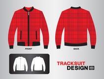 Czerwonego szkockiej kraty tracksuit wektorowy projekt Fotografia Royalty Free