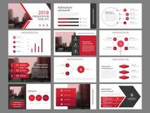 Czerwonego trójboka plika elementów prezentaci infographic szablon biznesowy sprawozdanie roczne, broszurka, ulotka, reklamowa ul ilustracji