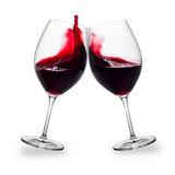 Czerwonego wina pluśnięcie Zdjęcia Royalty Free