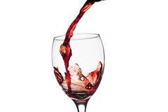 Czerwonego Wina pluśnięcie w szkle Obraz Royalty Free