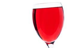 Czerwonego wina szkło Zdjęcie Stock