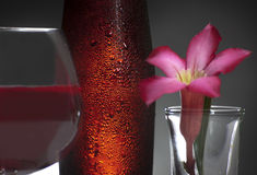 Czerwonego wina szkło nad tłem Obraz Royalty Free