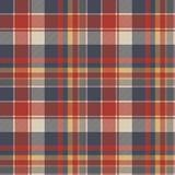 Czerwonej błękitnej tartan tkaniny tekstury bezszwowy wzór Obrazy Stock