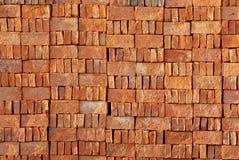 Czerwonej cegły bloku tekstura obrazy royalty free