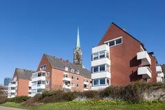 Czerwonej cegły domy w Bremen, Niemcy Zdjęcie Royalty Free