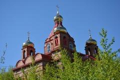 Czerwonej cegły kościół Zdjęcie Royalty Free
