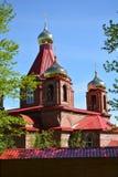 Czerwonej cegły kościół Zdjęcie Stock