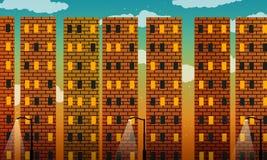 Czerwonej cegły metropolia royalty ilustracja